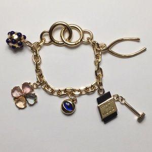 Tory Burch Lucky Charm Chain Key FOB Bracelet